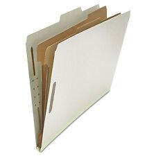 UNIVERSAL Pressboard Classification Folder Legal Six-Section Gray 10/Box 10282
