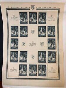 Yugoslavia #B125 Sheet of 16+9 1941 MH