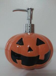 Halloween Pumpkin With 2 Face Soap Lotion Dispenser Pump
