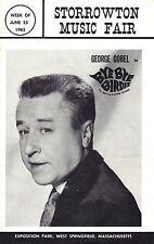 "George Gobel ""BYE BYE BIRDIE"" Bibi Osterwald / Charles Strouse 1962 Playbill"
