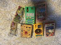 Vintage  Mini-Game Pocket Roulette Slot Machine Pinball Flinstone Wendy's Pinbal