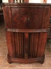 1939 RCA Model K130 Working Vacume Tube Wood Cabinet Console Radio