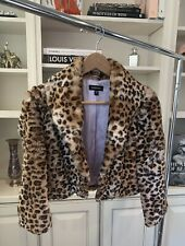 Bebe Rabbit Fur Cheetah Print Bolero Shrug