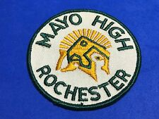 Mayo High Rochester Minnesota MN School Patch Clinic Sparty Spartan Yellow Green
