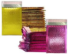 4x8 Honey Pot Gold Amp Pink Metallic Bubble Mailer Combo Padded Business Envelopes