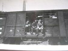 Ww Ii Photo of Soldiers in Box Car from Simbach Germany to Camp Atlanta France