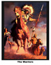 The Warriors Horse digitally printed100% cotton fabric panel 36x44 Western theme