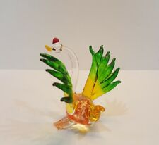 Colorful Swan2 Figurine Hand Blown Glass Art Mini Collectibles Home Decor Gift