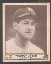 1940 Play Ball #129 Bucky Harris Senatoren Hof EX-MT