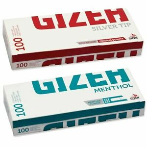 gizeh Make Your Own  FILTER TUBES MENTHOL OR PLAIN King Size Tubing Paper