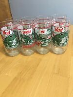 Budweiser Frog Glasses Set Of 8 1995 16 Oz Size Exceeded Used Condition
