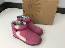 Ugg Boots Shoes, Girls Sheepskin, Size Uk 9 Eu 27, Pink, With Box, In Gc