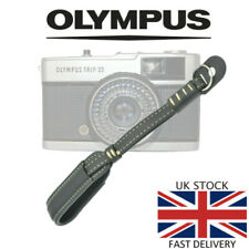 Deluxe BLACK Leather Camera Hand Wrist Strap Olympus Trip 35 35RC 35ED PEN 35SP