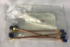 Bag of 4 Pasternack PE3679-6 SMA Male Right Angle to SMA Female Bulkhead Cable