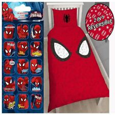 SPIDERMAN REFLEX SINGLE DUVET COVER SET + FREE SMALL FOIL STICKERS KIDS FREE P+P