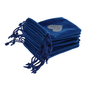 Small 7 x 9cm Velvet Bags for Jewelry Wedding Party Gift with Heart Pattern
