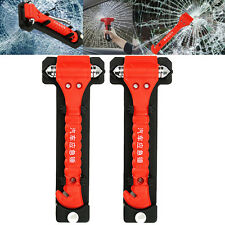 2x Car Window Emergency Hammer Survival Gear Life-Saving Cutter with Belt Mallet