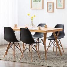 Pack 4 sillas de comedor Negro silla diseño nórdico retro estilo