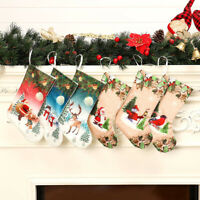 Christmas Stocking Sock Santa Claus Candy Gift Bag Xmas Tree Hanging Decor Trend