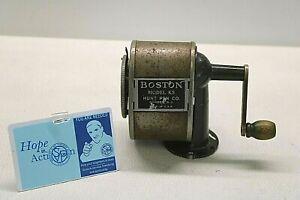 1950s Boston Model KS Hunt Pen Co. Green Pencil Sharpener