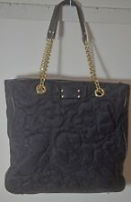 AUTHENTIC KATE SPADE QUILTED PURSE TOTE w/ METAL & LEATHER ACCENTS TT535