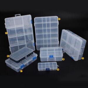 DIY Compartment Parts Storage Organiser Cabinet Screws Carry Case Tool Box。。