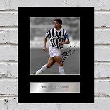 Roberto BAGGIO firmato montato Foto Display JUVENTUS FC