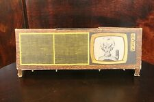 Vintage Barbie Cardboard Tv Console and Stereo Record Player