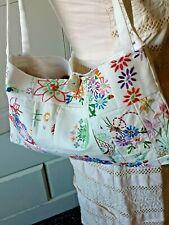 Bolsa De Mano Vintage crinolina Dama telas bordadas botón fregona