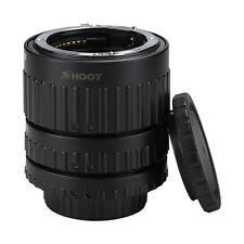 SHOOT Auto Focus AF Macro Extension Tube Set for Nikon D-SLR AF AF-S DX F6M5