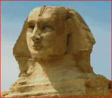 "Egyptian Sphinx Counted Cross Stitch Kit 12"" x 10.5"" 30.5cm x 26.7cm Egypt"