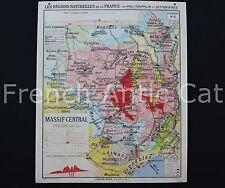 Ancienne Carte scolaire France Région naturelle géologie Massif Central 2 R011