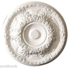 Ceiling Medallion19 inch Primed White D540 round light canopy dome design big