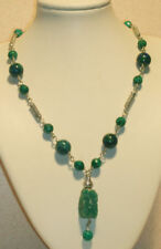 Rich Deep Blue & Green Amazonite & Chrysocolla Necklace