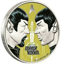 Tuvalu - 1 Dollar 2017 - Star Trek™ - Mirror Mirror  - 1 Oz Silber PP