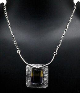 "925 Sterling Silver Multi Tourmaline Gemstone Jewelry Necklace Size-17-18"""