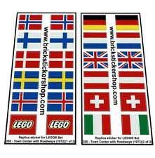 Precut Replica Sticker for Lego®Legoland Set 355 - Town Center Set with Roadways