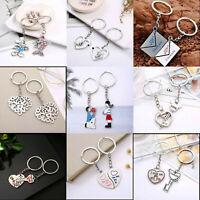 Cute Arrow & I Love You Heart & Couple Key Chain Keyring Keyfob Lover Xmas Gifts