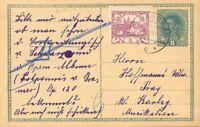 TSCHECHOSLOWAKEI 1919, 3 (H) Hradschin in selt. Mischfrankatur mit Österreich GA