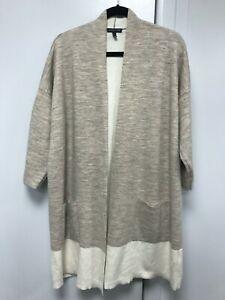 Eileen Fisher merino woo/organic cotton/ cashmere open cardigan Size XL (L)