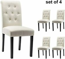 Modern Dining Chairs 2 Pcs Living Room Kitchen Home Decor Tufted Design Chairs