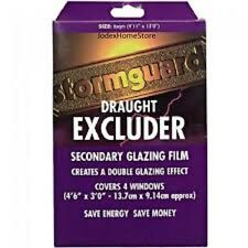 Seasonal Double Glazing Film kit draught excluder for windows 6sq m