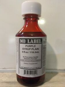 NO LABEL (ONE 4OZ BOTTLES) PURPLE RELAXATION SYRUP