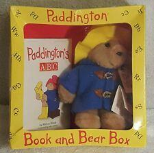 VTG Paddington Book and Bear Bear Box Hardcover Alphabet Michael Bond RARE 1990