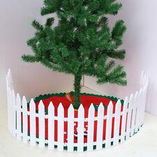 50pcs DIY White Plastic Christmas Tree Fence Rail Xmas House Party Decoration