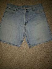 Members Mark Blue Jean Shorts Men Size 38 Light Wash Relaxed Denim Cotton