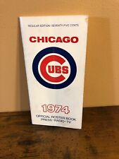 Official 1974 Chicago Cubs Roster Book Press Radio TV