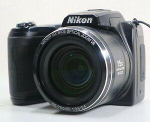 Nikon COOLPIX L110 12.1MP 15X Zoom Digital Camera - Black *Fine/tested*