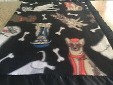 Handmade fleece pet blanket, cool dogs!
