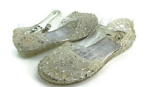 Stuart Weitzman Women's Clear Rubber Ankle Strap d'Orsay Ballet Flats US Size 8